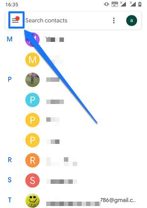 Google Contacts app