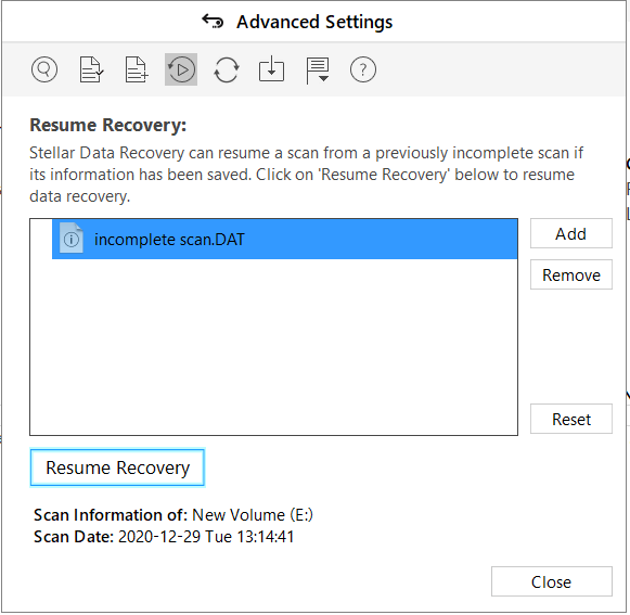 Resume Recovery
