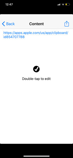 double tap to edit text