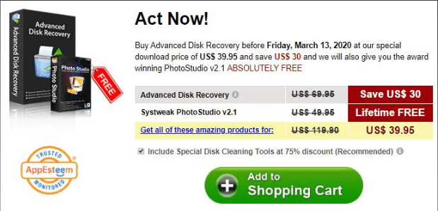 Advanced disk recovery price