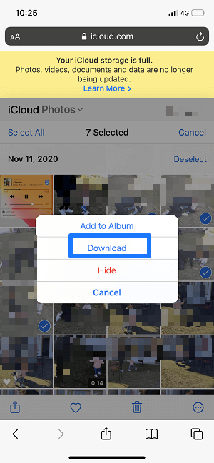 transfer photos from iCloud to iPhone
