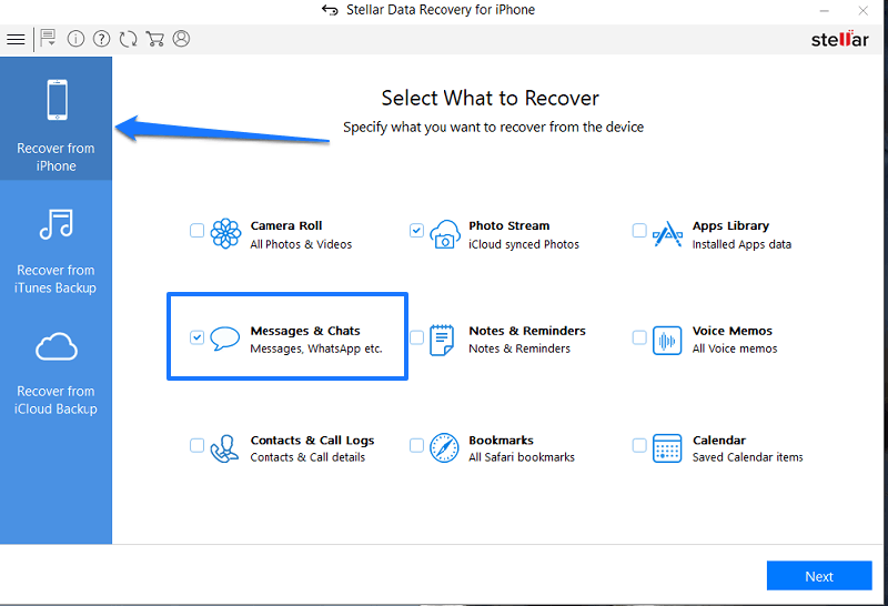 Recover from iPhone