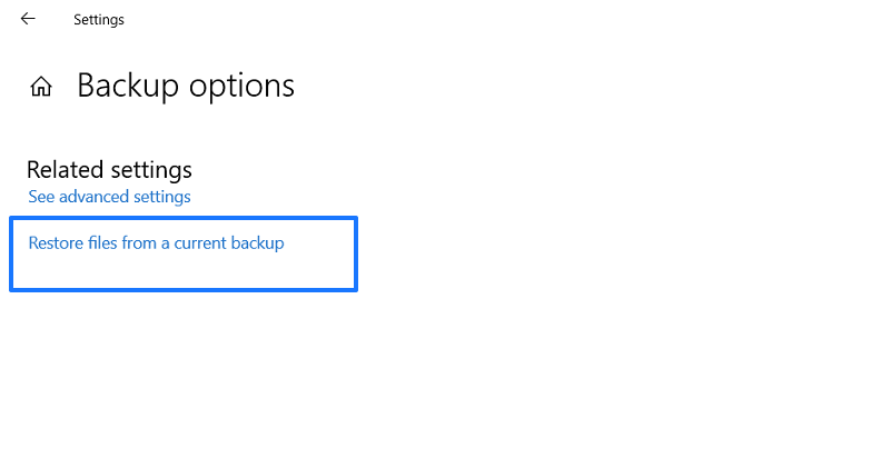 restore from current backup