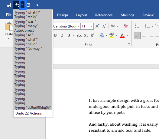 restore old version of word file