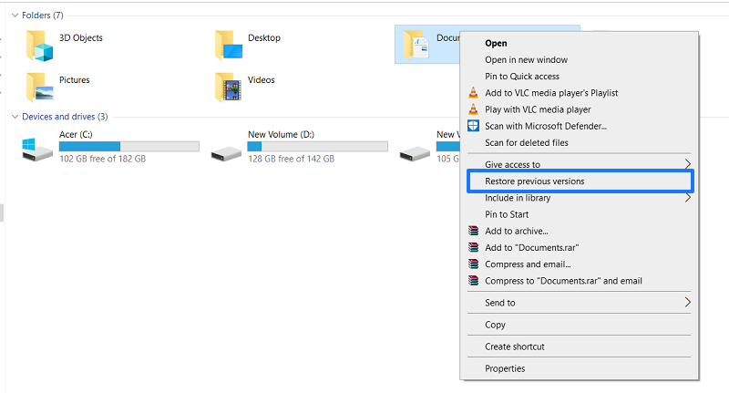 Recover deleted excel without software